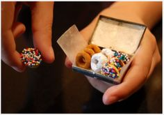 ELF DONUTS: (Chocolate-covered Cheerios and Sprinkles!) Leave with Santa Cookies. Cute!!