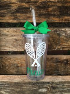 Tennis Tumbler Personalized Tennis Tumbler by PrettyLittleVinyls Senior Night Gifts, Senior Day, Tennis Party, Tennis Gifts, Softball Gifts, Cheerleading Gifts, Basketball Gifts, Coach Gifts, Team Gifts