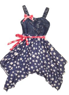 Little Mass ``American Royalty`` Soft Knit Star Printed Dress *PREORDER*Sizes 4 - 14