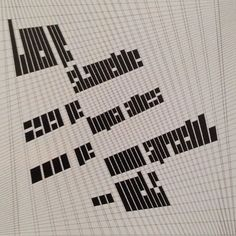 Fascinated by Jurrian Scheofer' grid. Thank you @uniteditions #typography #grid by Thinking Form, via Flickr