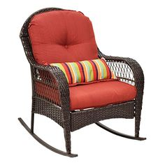 Tangkula Outdoor Wicker Rocking Chair Porch Deck Rocker Patio Furniture W/  Cushions Materials: Rattan