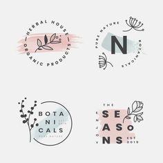 Floral botanical frame collection Free V Premium Vector Studio Logo, Elegant Business Cards, Business Card Design, Logo Design Template, Logo Templates, Logo Generator, Ideas Para Logos, Logo Abstrait, Logo Branding