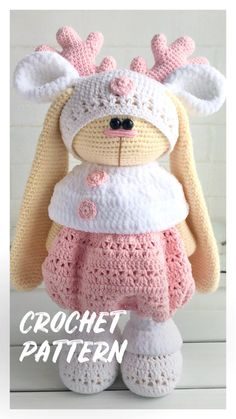 Crochet pattern outfit for doll