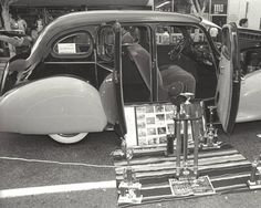 Over fifty cars were on exhibit at San Fernando's first annual Cinco de Mayo Low Ride Car Show, held at the San Fernando Mall on May 1, 1983. Robert and Betty Franklin Collection.
