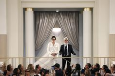 Couple years ago, 3D printed fashion just a word, but today, Karl Lagerfeld used the technology for the classic Chanel suit at Paris Fashion Week, and he said the idea is to take the most iconic jacket of the 20th century and make a 21st century version. We can see there would be more new technology used in fashion industry in the future.JYL.
