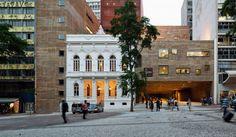 Fachada do Conservatório Musical e Dramático, que faz parte do complexo da Praça das Artes