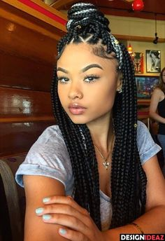 10 Incredible Black Braided Hairstyles for Parties-9