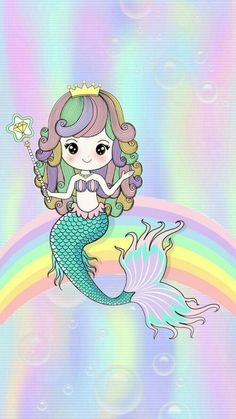 Wallpaper Iphone Disney, Cute Wallpaper Backgrounds, Cute Wallpapers, Mermaid Diy, Cute Mermaid, Unicorn And Fairies, Mermaid Illustration, Mermaid Images, Cute Drawings