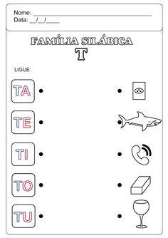 Família Silábica do T Preschool Activities, Sistema Solar, Professor, Literacy, Education, Learning, Letter G Activities, Preschool Literacy Activities, Language Activities