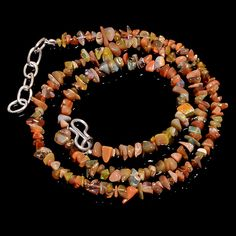 "39 CRTS 18"" ETHIOPIAN OPAL UNSHAPED UNCUT CHIPS BEADS BEAUTIFUL NECKLACE OBI459 #OPALBEADSINDIA"