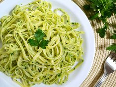 (Made - 4/5) Parsley Pesto Pasta. Good, inexpensive alternative to traditional pesto. Healthy, easy, and a great alternative to tomato pasta sauces.
