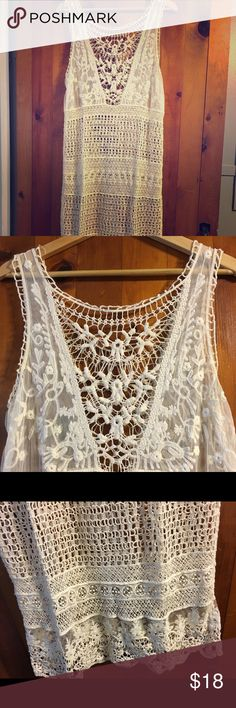 Bathing suit cover up crocheted Beautiful bathing suit cover up. Let's you and your cool new suit shine through! Swim Coverups