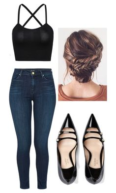 """#223"" by mahira-muminovic ❤ liked on Polyvore featuring J Brand and Gucci"