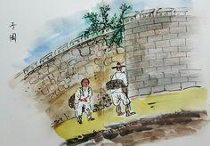 #storytelling #analysis #ancientkorea #bookstory #DailyDrawing #lifesketch  #pendrawing #urbansketch #streetart #cityalleys #먹 #봉채
