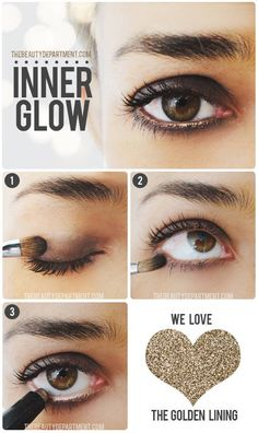 Inner Glow! (Brown Eyeshadow & A Golden Waterline)