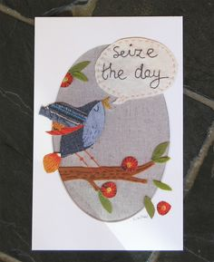 Seize the day - pack of 3 large postcards with envelopes, by Lil Sonny Sky via Folksy, £4.00