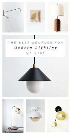 Designer Anna Smith of Annabode + Co. shares her all-time favorite sources for affordable, modern lighting on Etsy.