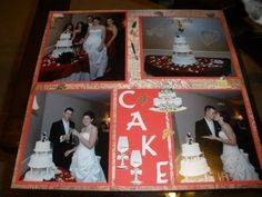 Paper Crafts by Candace: A couple pages from my Wedding scrapbook