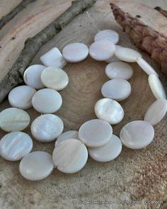HOT  HOT  White 10mm Round Sea Shell Bead by CedarCreekCanada