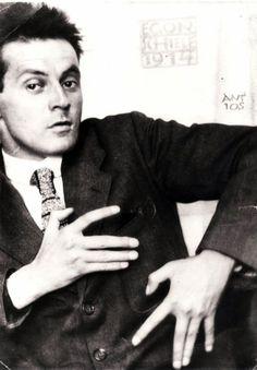 blue-voids:  Egon Schiele, photographed by Anton Josef Trčka (1914)