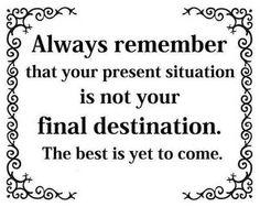 It's not the journey it's the destination...