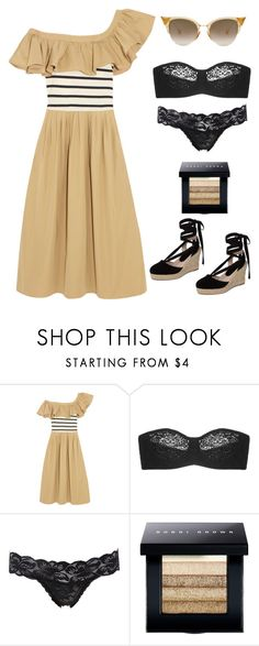 """""""Untitled #5265"""" by im-karla-with-a-k ❤ liked on Polyvore featuring Sea, New York, Wacoal, Charlotte Russe, Bobbi Brown Cosmetics and Topshop"""