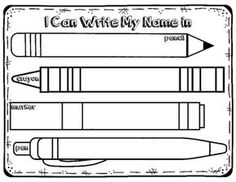 Name Writing Practice for back to school or kindergarten practice throughout the year. Place in writing station with various writing utensils to provide novelty while practicing how to write your name.