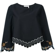 See By Chloé Floral Hem Blouse (13,875 INR) ❤ liked on Polyvore featuring tops and blouses