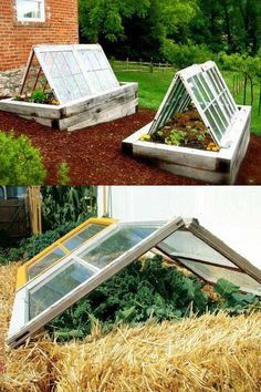 45 DIY Greenhouses with Great Tutorials: Ultimate collection of THE BEST tutorials on how to build amazing DIY greenhouses, hoop tunnels and cold frames! Lots of inspirations to get you started! - A Piece of Rainbow garden shed diy 42 Best DIY Gree Jardin Vertical Artificial, Garden Shed Diy, Potager Garden, Backyard Greenhouse, Greenhouse Ideas, Greenhouse Wedding, Portable Greenhouse, Greenhouse Heaters, Homemade Greenhouse