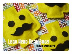 NO SEW LEGO Head Bean Bags, template included!