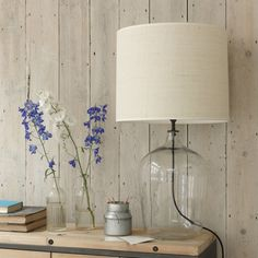 Flagon glass lamps with a cool, rustic and casual country feel | via @loafhome