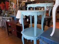 colorful little tables at SWAG in Old Saybrook, CT