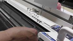 ブラザーKR890の基本の編み方 U字編みも捨て編としてよく使われます。 その他200目を超える作品も編むことができます。