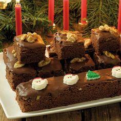 Läckra brownies med smak och doft av julens kryddor.