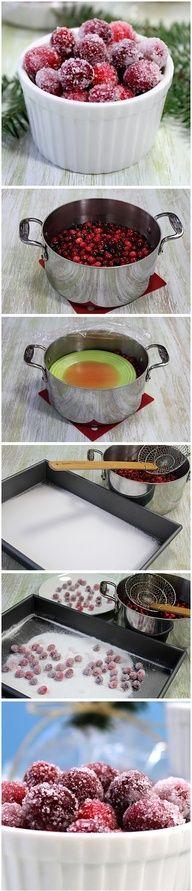 Vanilla Orange Candied Cranberries Recipe