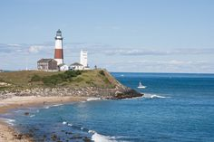 The famous Montauk Lighthouse, at the end of Long Island, NY.  Photo by Brown Harris Stevens of the Hamptons.