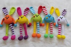 Crochet Lovey, Crochet Bunny Pattern, Crochet Daisy, Crochet Owls, Easter Crochet, Easy Crochet Patterns, Knitted Bunnies, Amigurumi For Beginners, Handmade Soft Toys