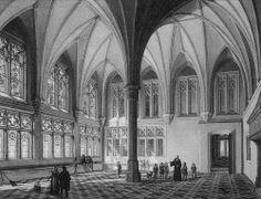 Sommerremter des Marienburger Hochmeisterpalastes von Domenico Quaglio 1836