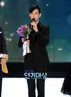 nice Actor Kim Soo Hyun at 2014 SBS Drama Awards