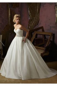 Luxe Taffeta with Crystal Beaded Embroidery wedding dress
