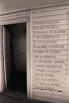 Defender la Alegría. Mario Benedetti