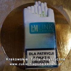 204. Tort w kształcie papierosów LM. Cigarettes cake.