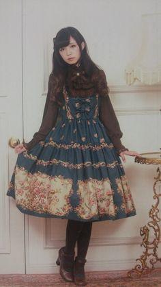 今日は、クラシカルスタイル上級者におすすめしたいコーディネート☆green×chocolatモデルは皆方由衣ちゃん☆ショコラのブラウスにグリーンのジャンスカを…