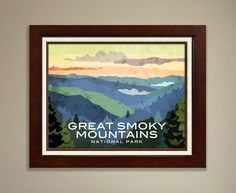 Designed by Minnesota Artist, Julie May, each print in this National Parks series brings to life one of the key images of one of our 59 National Parks. An avid National Parks traveler herself, Julie d