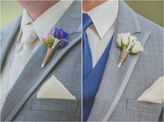 Groom and Groomsmen Golf Tee Boutonniere ~ Photo: Ama Photography & Cinema