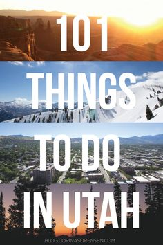 UPDATE: I decided it was about time I update my grand Utah To Do List. A few of the things on my previous version have since closed and I...