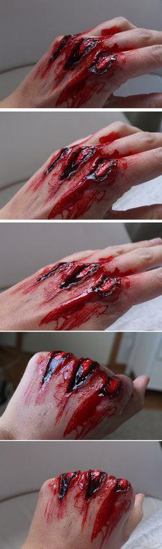 Specialeffekter - TRASIGA KNOGAR (Varning för blod!!!)