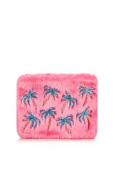 **Palm Fur Clutch Bag by Skinnydip