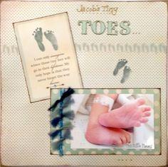 New Baby Scrapbook Layouts | Baby Scrapbooking Ideas