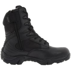 Bates Footwear GX-8 GORE-TEX Side-Zip Boot (Black) Men's Work Boots ($172) ❤ liked on Polyvore featuring men's fashion, men's shoes, men's boots, black, tactical/hunting gear, mens shoes, mens velcro strap shoes, mens boots, mens work boots and mens gore tex boots